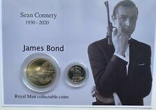 More details for new sean connery as james bond royal mint £5 and a-z 10p coin gift set