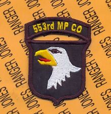 US Army 553rd MP Co Military Police 101st Airborne Division patch