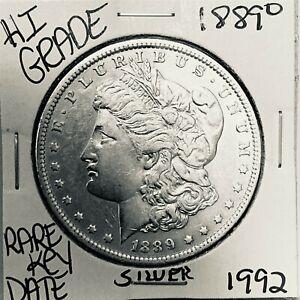 1889 O MORGAN SILVER DOLLAR HI GRADE GENUINE U.S. MINT RARE KEY COIN 1992