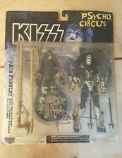 1998 McFarlane Toys Kiss Psycho Circus Ace Frehley & The Stiltman Figures Signed