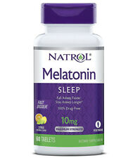 Natrol Melatonin 10 Mg Fast Dissolve Citrus Punch Flavor Drug Free - 60 Tablets