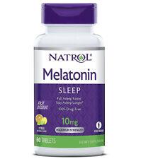 Natrol Melatonin 10 Mg Fast Dissolve Citrus Punch Flavor Drug Free - 60 Tablets