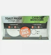 FireAngel Twin Pack Smoke Alarm & Carbon Monoxide Alarm Toast Proof Brand New