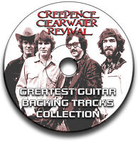 CREEDENCE CLEARWATER REVIVAL STYLE ROCK GUITAR AUDIO BACKING TRACKS CD LIBRARY