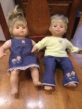 American Girl Bitty Baby Twins Blond Blue eyes Girl & Boy Set Pleasant Company