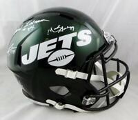 Sack Exchange Autographed New York Jets F/S Speed Helmet - JSA W Auth *White