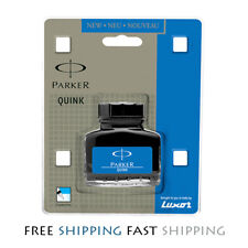 Parker Quink Ink Bottle in Blue colour for Fountain Pen 30ml Free Ship Worldwide