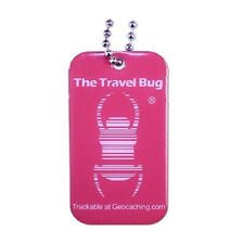 PINK Geocaching QR Travel Bug® - Glow in the Dark Brille dans le noir