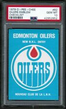 1979 80 OPC O-Pee-Chee #82 Oilers Logo CL Checklist PSA 10 POP 9 Gretzky on Back