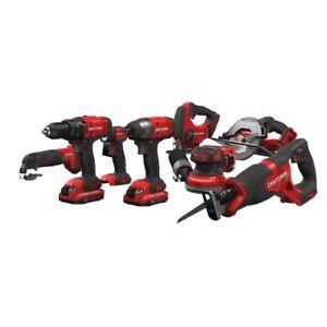 Craftsman CMCK800D2 V20 8-Tool 20-V Cordless Power Tool Combo Kit - Brand New