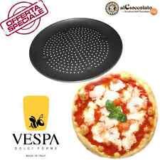 TEGLIA PIZZA FORATA 35 X 2 CM ROTONDO ANTIADERENTE ALLUMINIO CASTAGNE 20936