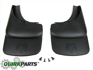 03-05 Dodge Ram 1500 2500 Rear Molded Splash Guards W/Logo MOPAR GENUINE OEM NEW