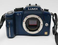 Panasonic Lumix DMC-G1 12.1MP Digital Camera (Blue) Body Only (W/ small issue)