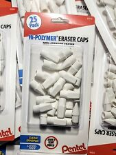 Pentel Hi Polymer Eraser Caps 25 Ct Latex Free Pencil Eraser