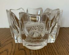 Orrefors Crystal Glass Vase Etched Bristol Myers 75 Years Australia Signed