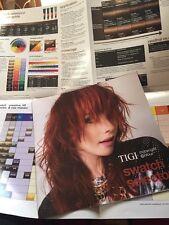 Tigi Colour Swatch Paper Chart Newest
