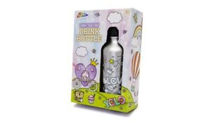 Kids Children Toddler Colour Your Own Water Drink Bottle Animal Rainbow Stars