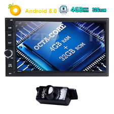 "8Core Android 8.0 4G WIFI 7"" Double 2DIN Car Audio Player Radio Stereo GPS Nav E"