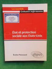 ETAT ET PROTECTION SOCIALE AUX ETATS UNIS E THEVENARD CIVILISATION ANGLO SAXONNE