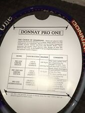 New listing Donnay Pro-One Limited Edition Oversize Agassi NEW!Rare As-Grip2 or 4 1/4
