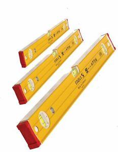 Stabila Double Plumb Ribbed/Bricklayer Spirit Levels 60,120,180cm 3pcs Set