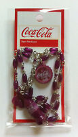 NEW COCA COLA Collectors CHERRY COKE Charm Necklace X-MAS STOCKING STUFF Jewelry