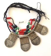 Nice Antique SILVER Moroccan Coin Berber Ethnic Tribal Bead Ornament- Foum Zguid