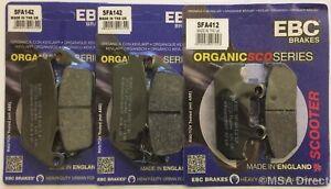 EBC FRONT and REAR Disc Brake Pads (3 Sets) fits Suzuki AN650 Burgman / Skywave