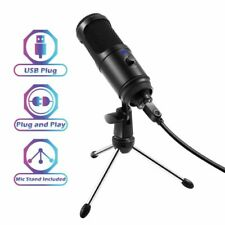 Professional Studio USB Cardioid Condenser Microphone Vol Knob Tripod Stand