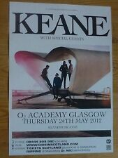 Keane - Glasgow may 2012 tour concert gig poster