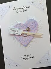 Personalised Handmade 'Heart/Ring'Engagement Card