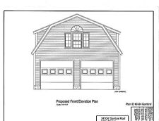 GARAGE BARN POLE BARN SHED PLANS - CUSTOM QUOTE ORDER - READ AUCTION AD