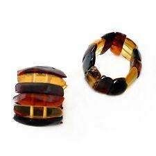 100% Natur Bernstein Ring Fingerring Gummizug Amber K594