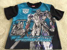Transformers Boys Black Blue Gray Optimus Prime Short Sleeve Pajama Shirt Large
