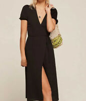 Reformation Addy Wrap Dress Black Size XS $218