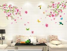 Removable Wall Stickers Decal Art Vinyl Flower Bird Mural Home Room Decor DIY SU