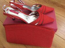 Nouveau-Jacques vert chaussures & sac à main, Taille 5, Piment Rouge Gamme