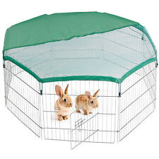Large Pet Play Pen 8 Sided Panel Steel & Net Ideal for Indoor or Outdoor Use