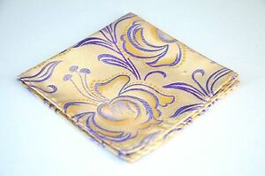 Lord R Colton Masterworks Pocket Square - Pearl & Blue Futurism Floral - $75 New