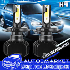 Pair 9003 H4 LED Headlight Bulb for Toyota Tacoma 1997-2015 High Low Beam USA