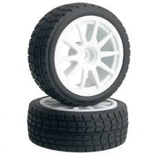 RC 910W-8005 Rubber Tires & Wheel Plastic 4Pcs For HSP HPI 1/10 On-Road Car