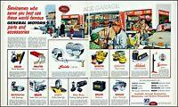 1953 General Motors Ace car garage service center vintage art print ad adl74