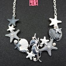 Betsey Johnson Fashion Jewelry Beauty Silver Starfish Shell Choker Necklace