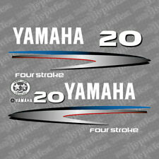 Yamaha 20 four stroke outboard (2002-2006) decal aufkleber addesivo sticker set