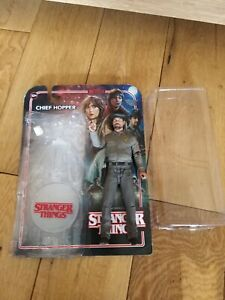 MCFARLANE STRANGER THINGS FIGURE CHIEF HOPPER  AND STAND COMPLETE VGC