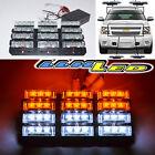 36 White/Amber LED Emergency Hazard Flashing Warning Strobe Dash/Grill/Bar Light