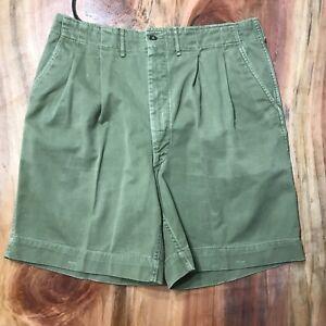 Vintage 50's BOY SCOUTS BSA Men's Shorts 32 Cotton Pleated Uniform Z3-12
