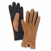 Apt. 9 Women's Suede Gloves - Black, British Tan, or Purple - MSRP $40