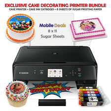 Edible Birthday Cake Topper and Tasty Treats Image Printer Bundle