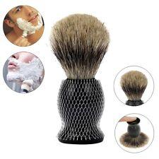 Black Pure Badger Hair Shaving Brush With Resin Stand For Men all Skin Types